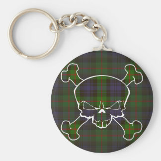 Murray Tartan Skull No Banner Basic Round Button Key Ring