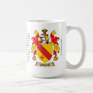 Murrell, the Origin, the Meaning and the Crest Coffee Mug
