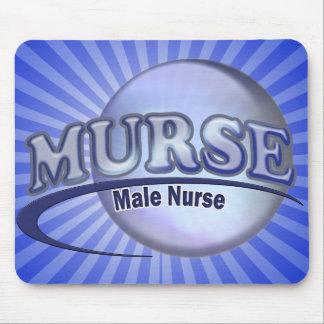 MURSE LOGO (MALE NURSE) MOUSE PAD