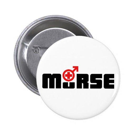 Murse logo on white pin