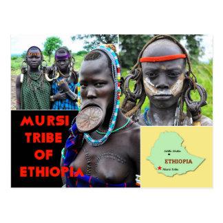 Mursi People of Ethiopia Postcard