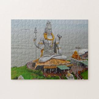 Murudeshwar Arabian sea Karnataka Gopuram Konkan. Jigsaw Puzzle