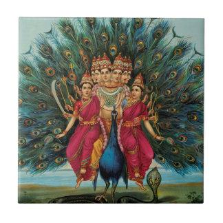 Murugan Kartikeyan Skanda Subrahmanyan Hindu Deity Tile