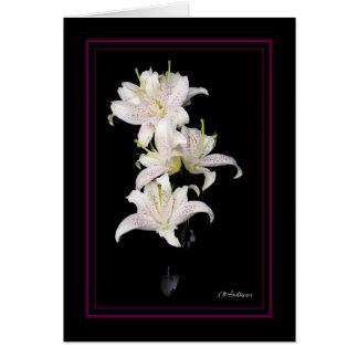 Muscadet lilies vertical card