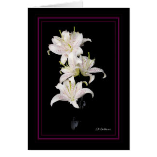 Muscadet lilies vertical greeting card