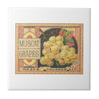 Muscat Grapes Ceramic Tile