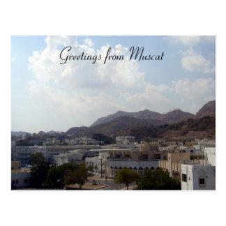 muscat greetings postcard