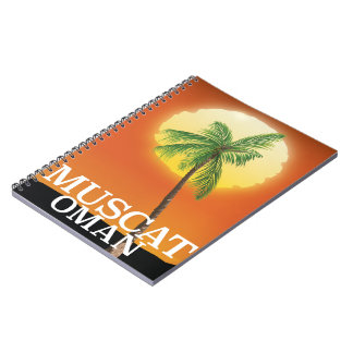 Muscat Oman vacation poster Notebooks