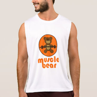 Muscle Bear Teddy Bear Orange Singlet