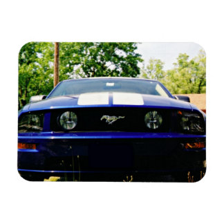 Muscle car Blue Flexible Magnet