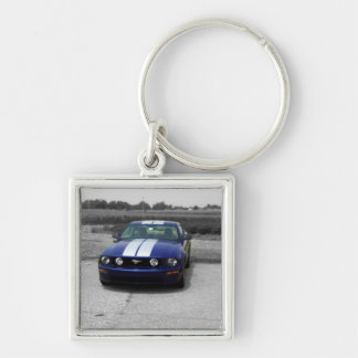 Muscle car Blue Keychain