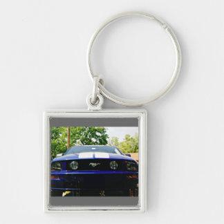 Muscle car- blue Keychain