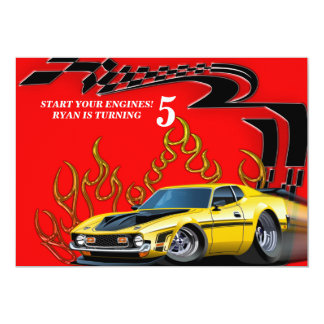 Muscle car card