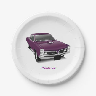 Muscle Car Designed Paper Plate