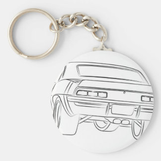 Muscle car drawing key chains