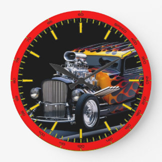 Muscle Car Large Clock