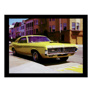 Muscle Car, San Francisco Poster