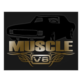Muscle Car V8 Poster