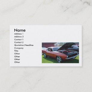 muscle car business cards zazzle au
