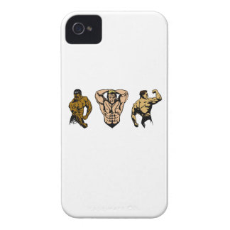 Muscle Crew - Strike a Pose iPhone 4 Cases