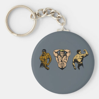 Muscle Crew - Strike a Pose Key Ring