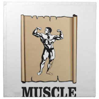 muscle form meat napkin