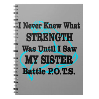 Muscle/I Never Knew...Sister Spiral Notebook