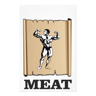 muscle man meat yeah customized stationery
