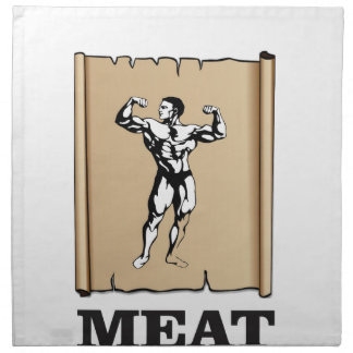 muscle man meat yeah napkin