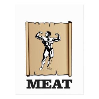 muscle man meat yeah postcard