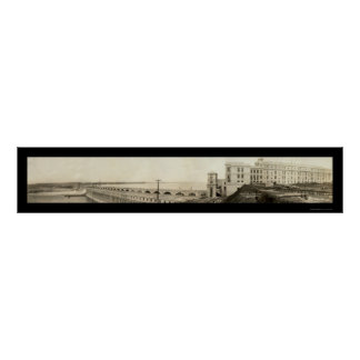 Muscle Shoals Dam Photo 1926 Poster