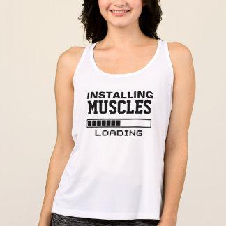 Muscles Funny Geek Singlet