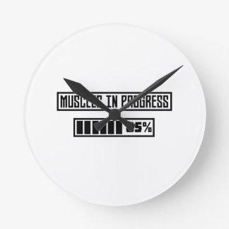Muscles in Progess workout  Zpf7n Round Clock
