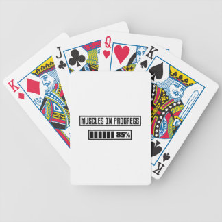 Muscles in progress workout Z1l52 Bicycle Playing Cards
