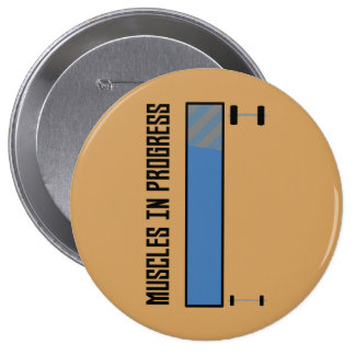 Muscles in progress workout Z8jh1 10 Cm Round Badge