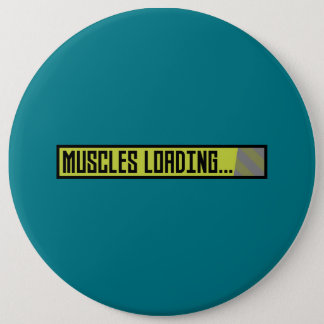 Muscles Loading Progressbar Zqy9t 6 Cm Round Badge