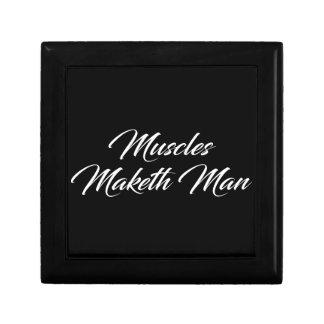 Muscles Maketh Man - Workout Inspirational Gift Box
