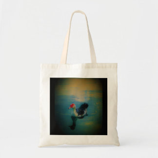 MUSCOVY FLOATING ON THE POND TOTE BAG