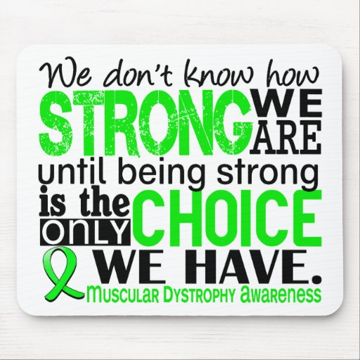 Muscular Dystrophy How Strong We Are Mousepads
