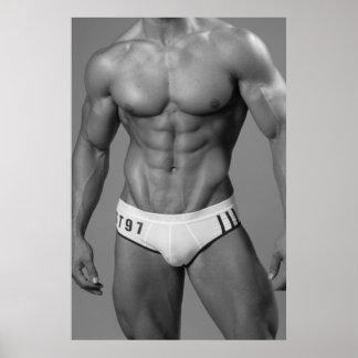 Muscular Swimmer Poster