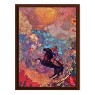 Muse On Pegasus By Redon Odilon (Best Quality) Postcard
