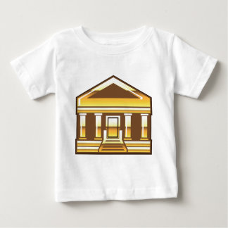 Museum Bank Government Building Golden Vector Baby T-Shirt