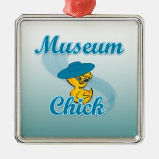 Museum Chick #3 Metal Ornament