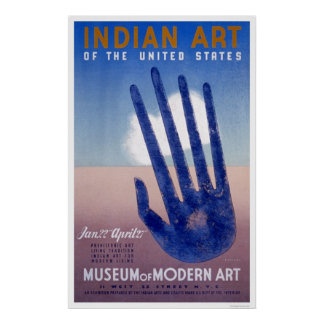 Museum Modern Art Indian 1938 WPA Poster