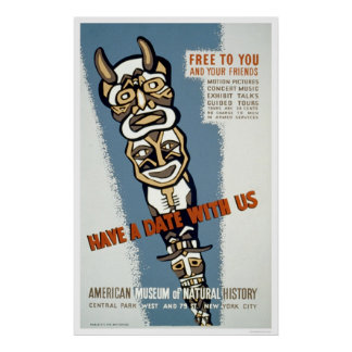 Museum Natural History 1942 WPA Poster