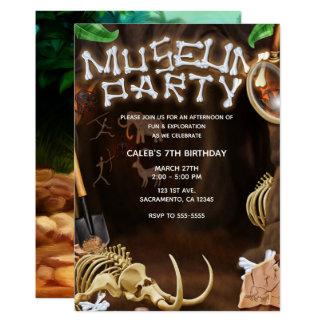 MUSEUM PARTY Dinosaur Bones Mystery Cave Birthday Card