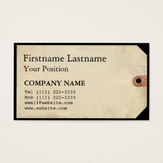 Museum Tag Business Card