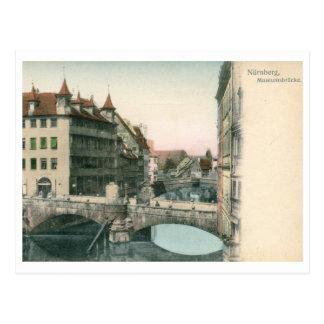 Museumbrucke, Nurnberg, Germany Vintage Postcard