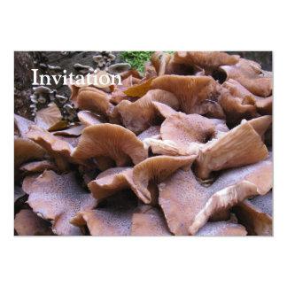 """Mushroom #4 5"""" x 7"""" invitation card"""