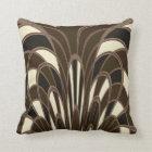 Mushroom Abstract - Art Deco - Brown Cushion